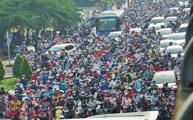 kẹt xe ở Sài Gòn hiện nay 2021