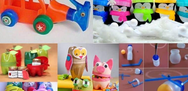Cách tái chế chai nhựa thành món đồ chơi cho bé