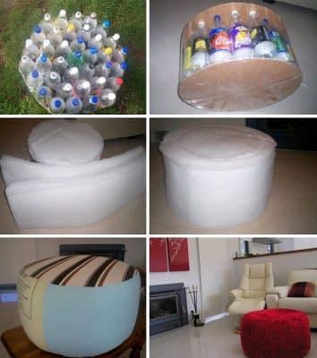 Làm ghế ngồi từ chai nhựa