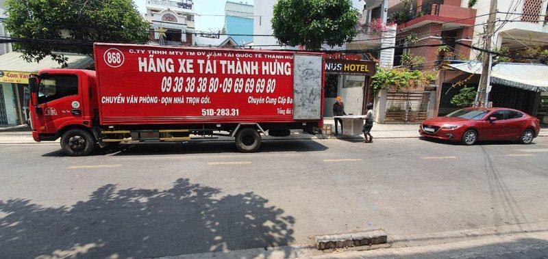 Xe tải chuyển văn phòng chuyên nghiệp từ Thành Hưng